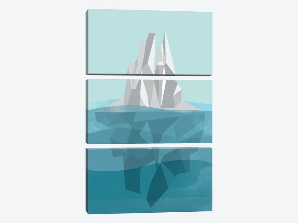 Iceberg by Flatowl 3-piece Canvas Wall Art