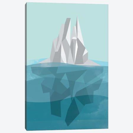 Iceberg Canvas Print #OWL62} by Flatowl Canvas Art
