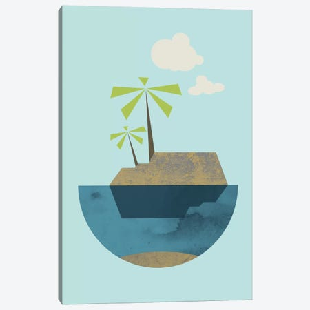 Island Canvas Print #OWL63} by Flatowl Canvas Artwork