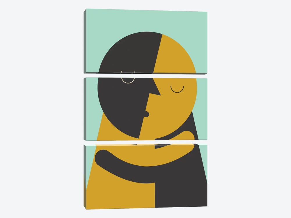 Kiss by Flatowl 3-piece Canvas Art