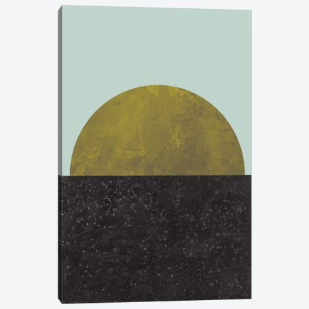 Last Quarter Canvas Print #OWL66} by Flatowl Art Print