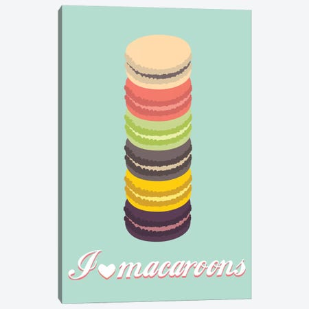 Macaroons Canvas Print #OWL69} by Flatowl Canvas Artwork