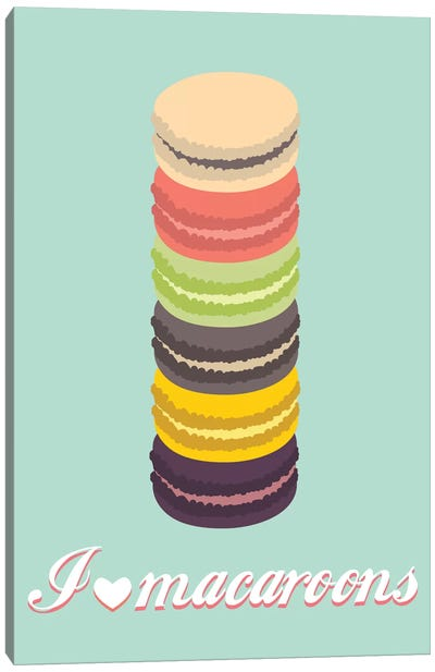 Macaroons Canvas Art Print