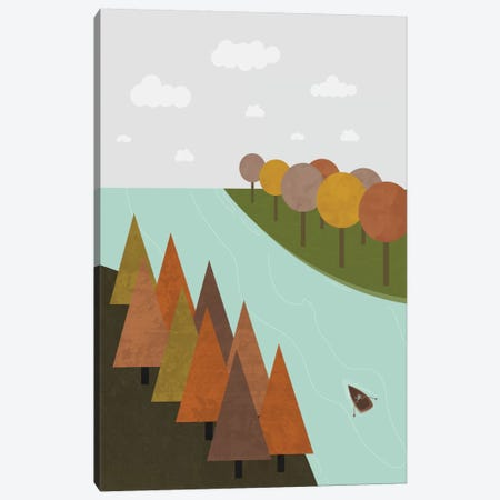 Autumn Canvas Print #OWL6} by Flatowl Canvas Print