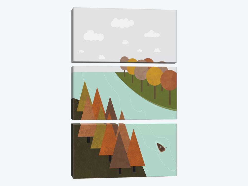 Autumn by Flatowl 3-piece Canvas Artwork