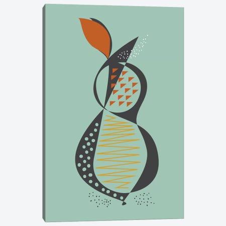 Pear Canvas Print #OWL76} by Flatowl Canvas Artwork
