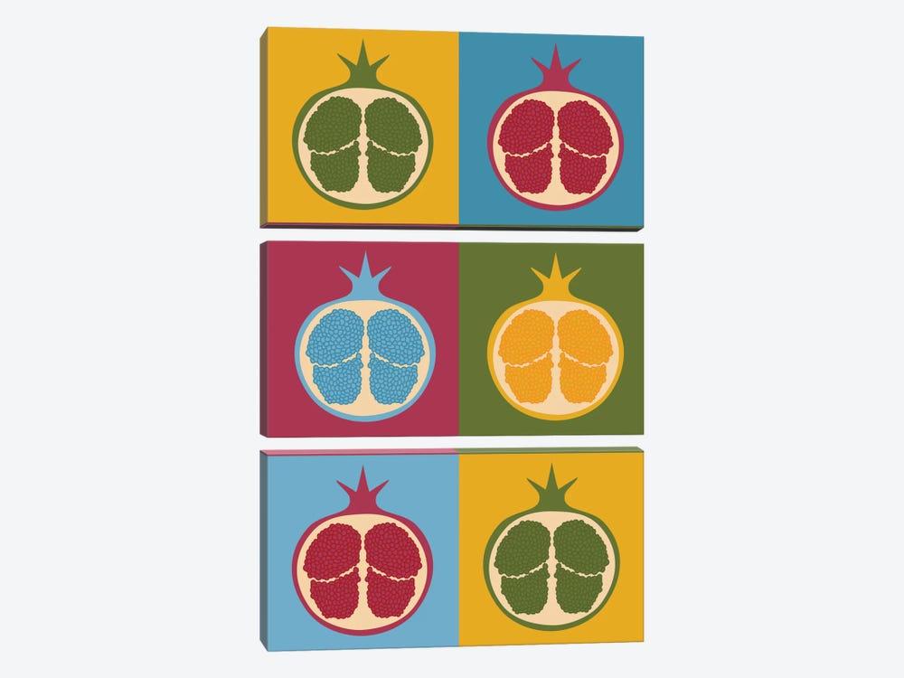 Pomegranate by Flatowl 3-piece Canvas Art