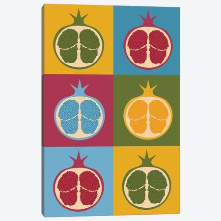 Pomegranate Canvas Print #OWL79} by Flatowl Canvas Print