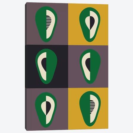 Avocado Canvas Print #OWL7} by Flatowl Canvas Print