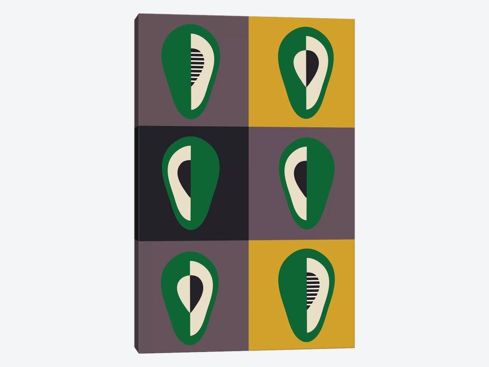 Avocado by Flatowl 1-piece Canvas Art Print