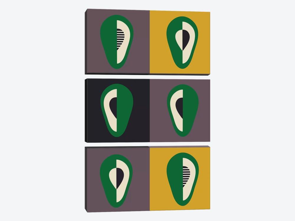 Avocado by Flatowl 3-piece Art Print