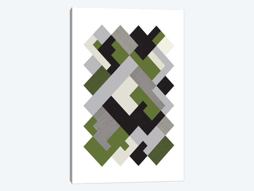 Rectangles Org by Flatowl 1-piece Canvas Art Print