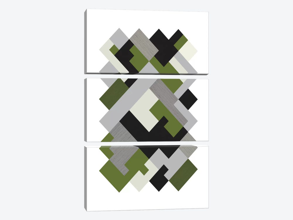 Rectangles Org by Flatowl 3-piece Canvas Print