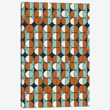 Retro Pattern Canvas Print #OWL82} by Flatowl Canvas Artwork