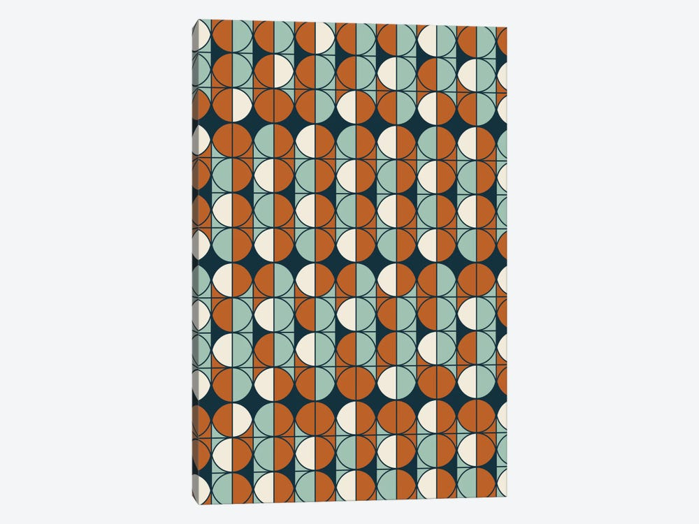 Retro Pattern by Flatowl 1-piece Canvas Wall Art