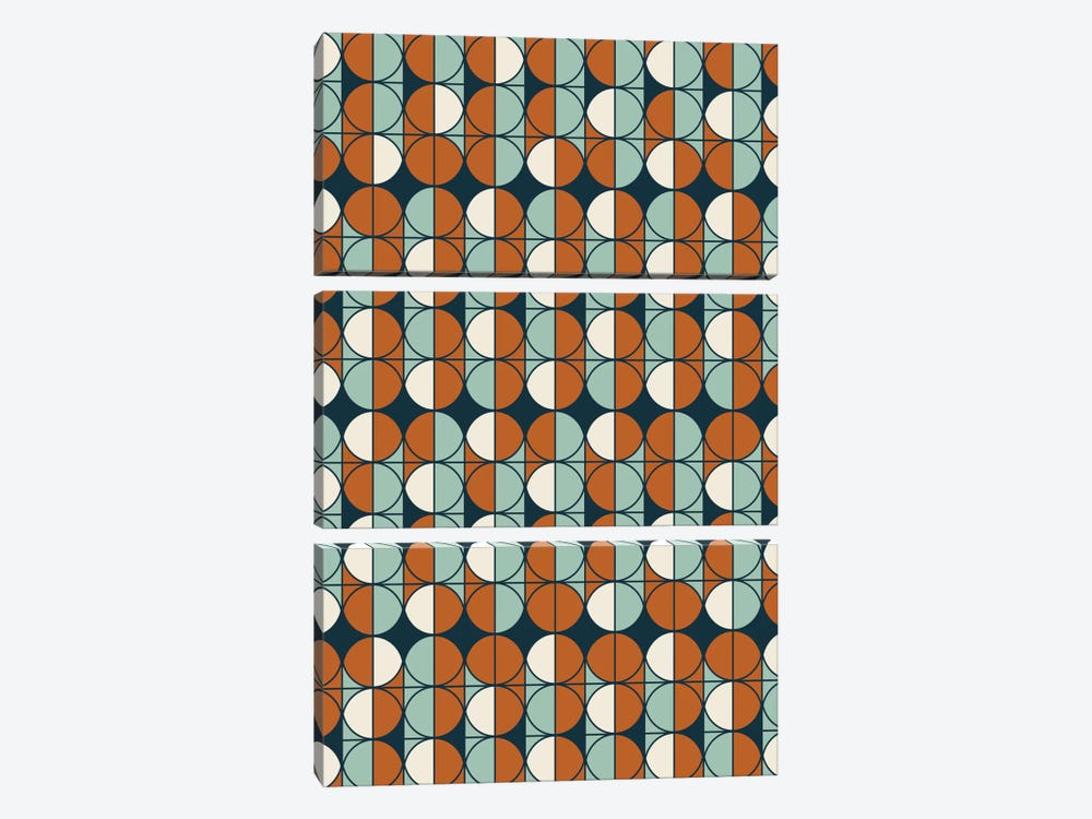 Retro Pattern by Flatowl 3-piece Canvas Wall Art