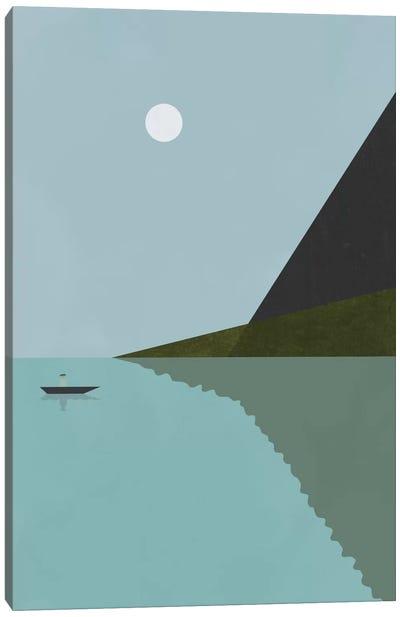 Sailing At Night Canvas Art Print