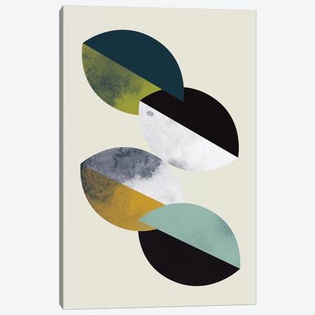 Saucers Canvas Print #OWL85} by Flatowl Canvas Art Print