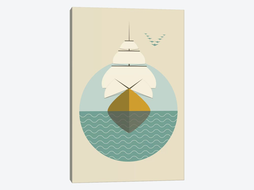 Ship by Flatowl 1-piece Canvas Artwork