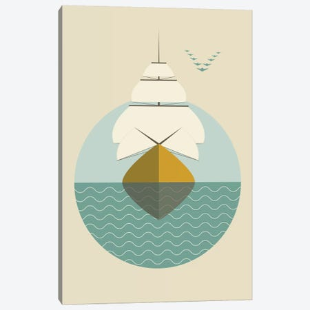 Ship Canvas Print #OWL88} by Flatowl Canvas Artwork