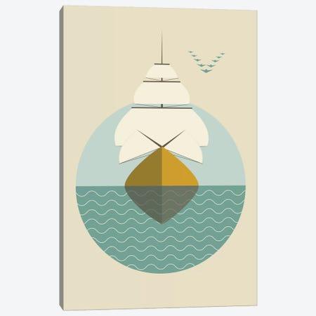 Ship Canvas Print #OWL88} by Flatowl Canvas Artwork
