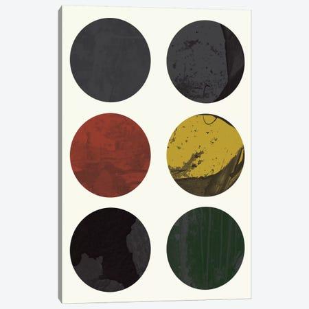 Six Circles Canvas Print #OWL90} by Flatowl Art Print