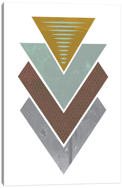 Triangles Grunge Canvas Art Print
