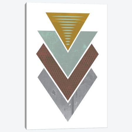 Triangles Grunge Canvas Print #OWL96} by Flatowl Canvas Artwork