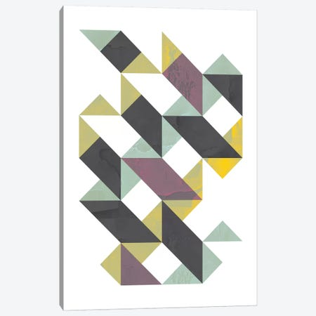 Triangles I Canvas Print #OWL97} by Flatowl Canvas Wall Art