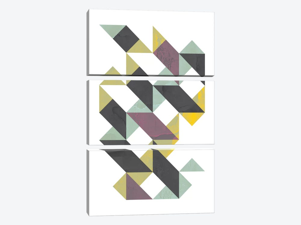 Triangles I 3-piece Canvas Wall Art