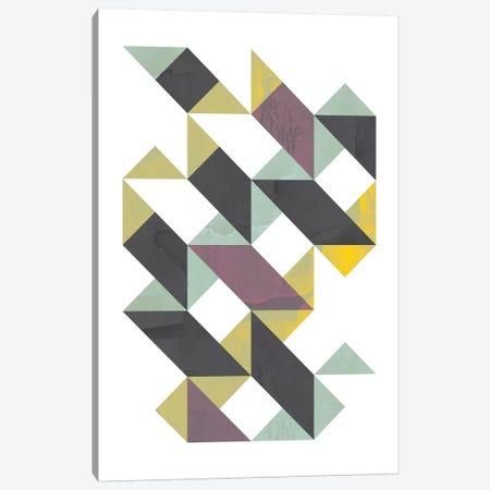 Triangles I Canvas Print #OWL97} by Flatowl Canvas Wall Art