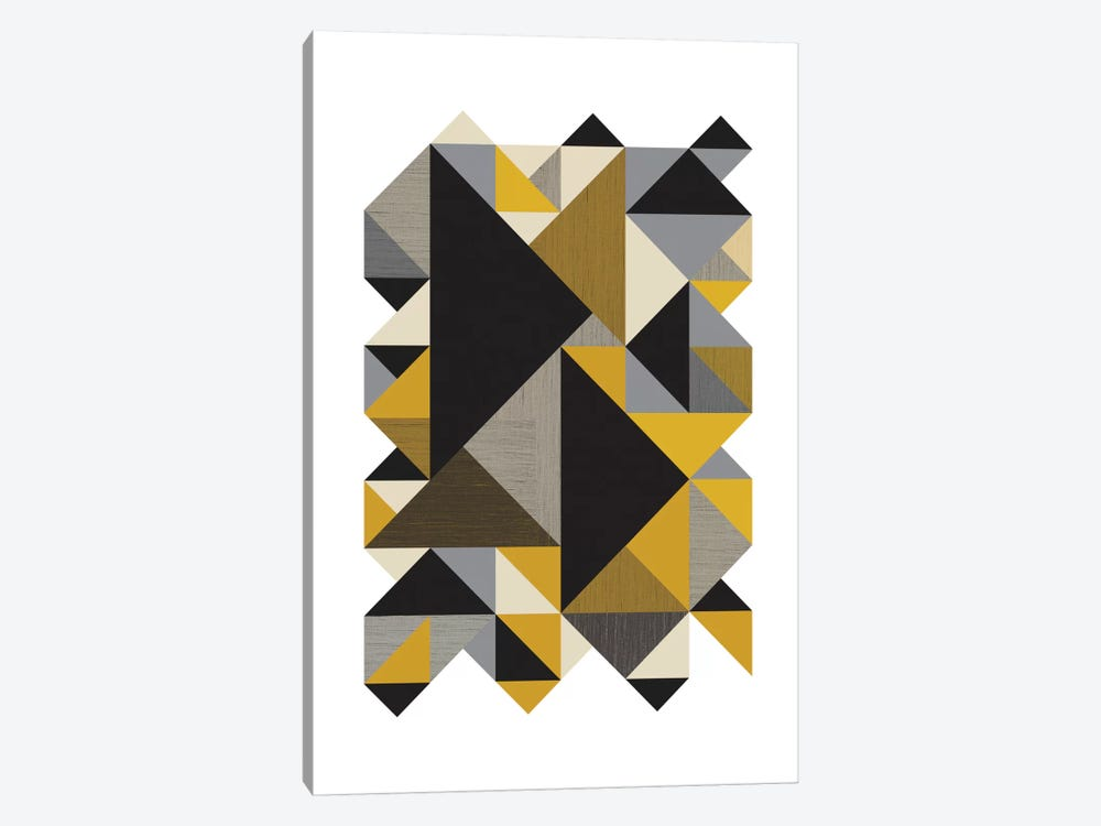 Triangles Org by Flatowl 1-piece Art Print