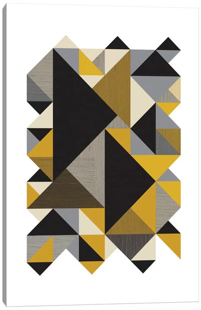 Triangles Org Canvas Art Print