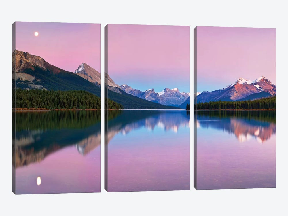 Maligne Lake 3-piece Canvas Print