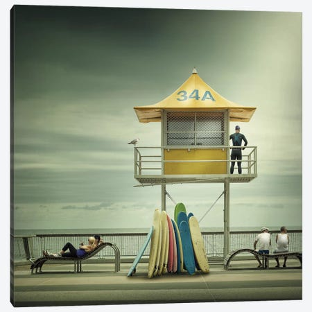 The Life Guard Canvas Print #OXM1073} by Adrian Donoghue Canvas Art Print