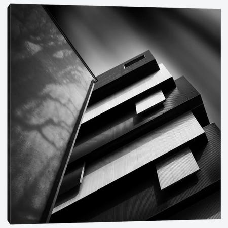 Black & White 3-Piece Canvas #OXM1083} by Ajkabajka Canvas Art