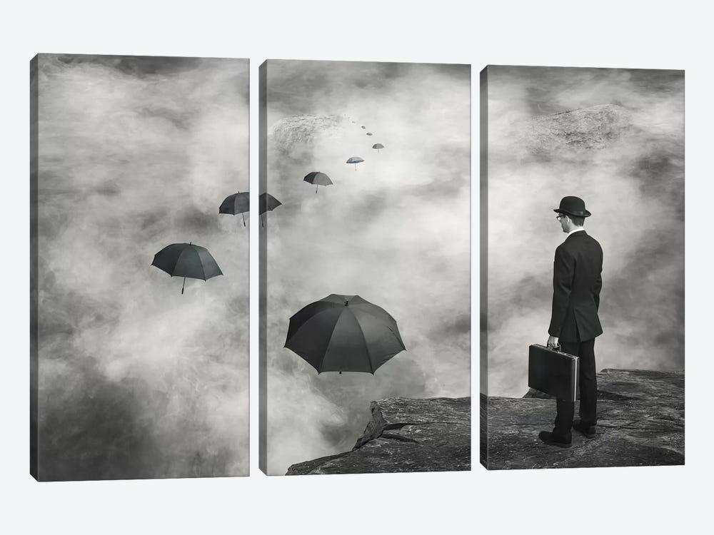 The Road Less Traveled by Alain Villeneuve 3-piece Canvas Artwork