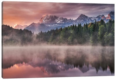 Sunrise At The Lake Canvas Art Print