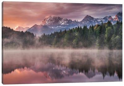 Sunrise At The Lake Canvas Art Print
