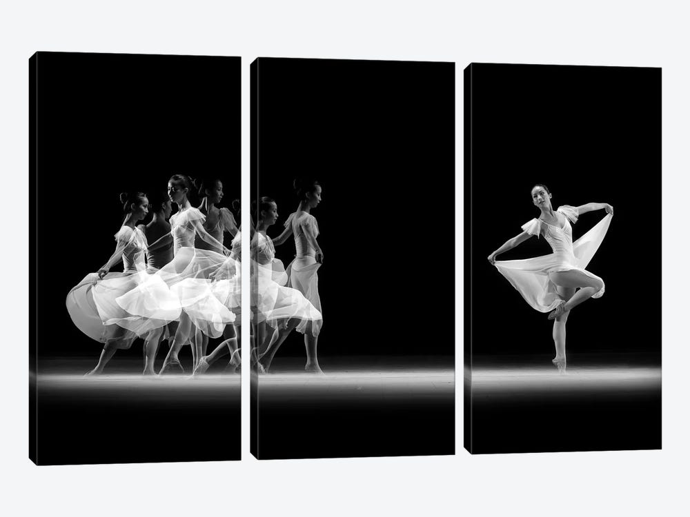 Balerina Movement by Antonyus Bunjamin 3-piece Canvas Artwork