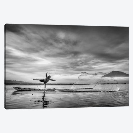 Man Behind The Nets Canvas Print #OXM1194} by Arief Siswandhono Canvas Art Print