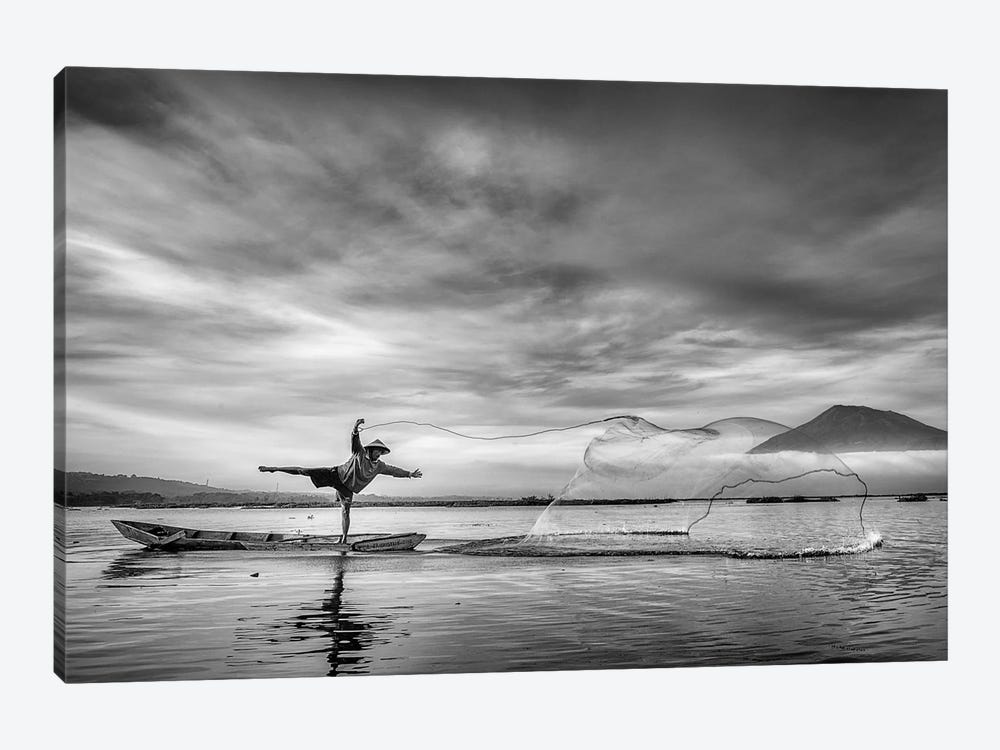 Man Behind The Nets by Arief Siswandhono 1-piece Art Print