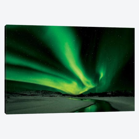Aurora Borealis Canvas Print #OXM1240} by Bragi Ingibergsson Canvas Art