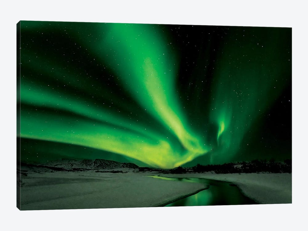Aurora Borealis by Bragi Ingibergsson 1-piece Canvas Artwork