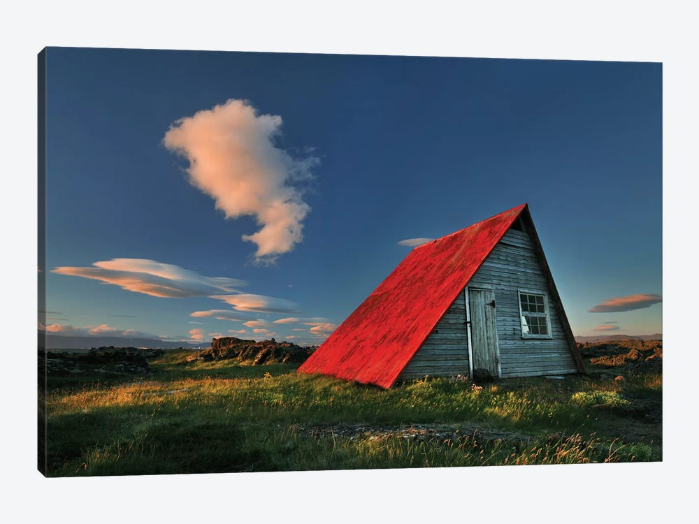 The Red Roof by Bragi Ingibergsson 1-piece Canvas Artwork