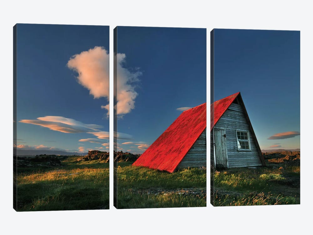 The Red Roof by Bragi Ingibergsson 3-piece Canvas Artwork