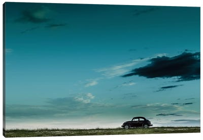 The Red VW Beetle Canvas Print #OXM1256