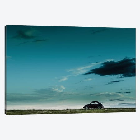 The Red VW Beetle Canvas Print #OXM1256} by Camilo Otero Canvas Art