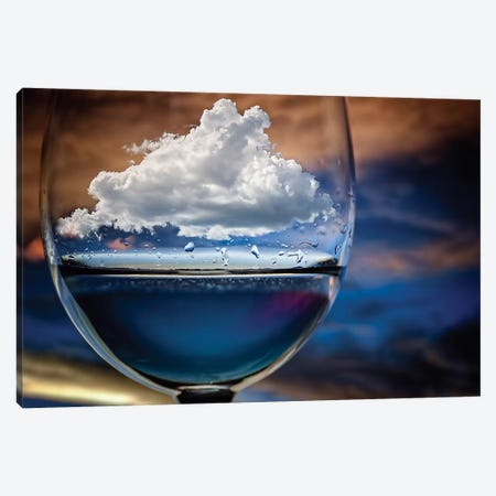 Cloud In A Glass Canvas Print #OXM1263} by Chechi Peinado Canvas Wall Art