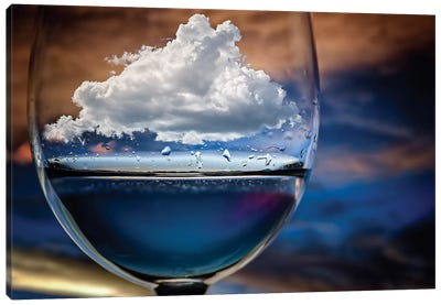 Cloud In A Glass Canvas Art Print